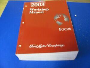 Repair Manuals Literature For 2003 Ford Focus For Sale Ebay