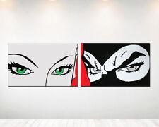 40x90 arredamento pop art Quadro moderno dipinto a mano su tela Diabolik 2 Pz