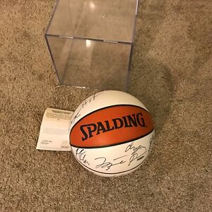 Michael Jordan Washington Wizards Team Signed Basketball 2001 w/ Upper Deck COA