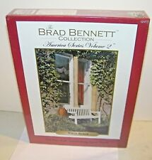 """""""White Bench"""" by Brad Bennett Collection 550 Pc. Jigsaw Puzzle NEW Sealed"""