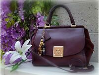 COACH 38389 Mixed Leather Drifter Carryall oxblood satchel handbag purse shouldr
