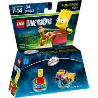 LEGO DIMENSION 71211 FUN PACK The Simpson Bart pronta consegna nuovo imballato
