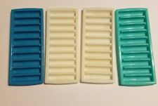"""Water Sports Bottle Ice Cube Mold Tray Set of 4 Blue White 3 3/4"""" by 3/4"""""""