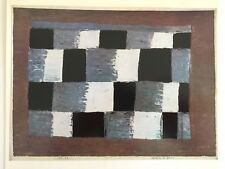 """PAUL KLEE VINTAGE 1967 AUTHENTIC LITHOGRAPH PRINT """" TEMPO OF 3 QUARTERED """" 1930"""