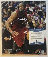 Dwyane Wade Signed Autographed Miami Heat 8x10 Photo Beckett COA