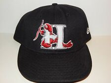 HICKORY CRAWDADS  GAME USED NEW ERA  VENTED FITTED HAT SIZE 7 1/2