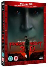 Fright Night 3D [Blu-ray 3D + Blu-ray] [2 Discs] [Region Free] ✔NEW✔
