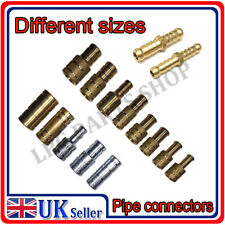 STRAIGHT Pipe Hose connectors MANY SIZES Metal BRASS turbo water gas coolant