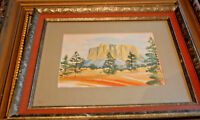 Original Alonzo Hauser Watercolor South of Flagstaff Listed Artist Signed MN ART