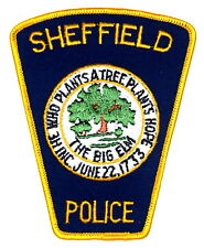 SHEFFIELD – THE BIG ELM - MASSACHUSETTS MA Police Sheriff Patch TOMBSTONE LARGE