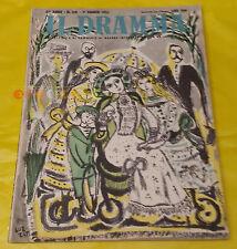 IL DRAMMA 1951 n. 128 - Copertina Emanuele Luzzati - Opere: vedi inserzione