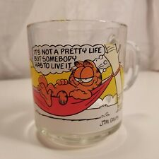 Vintage 1978 Garfield Characters McDonald's Glass Mugs Glasses Hammock Life