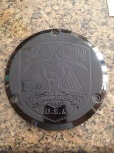saxon motorcyles derby cover black griffin warlord sceptre villian harley 3 bolt