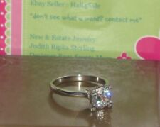Sterling Silver & Brillante  (cz)  Engagement Ring  New, s/10 Fabulous!!!!!