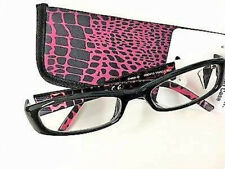 New! Foster Grant Readers Choice Vianca Black 2.75 Reading Glasses W/Soft Case!