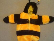NWOT CARTER'S 2-PC GOLD AND BLACK HOODED BUMBLEBEE HALLOWEEN COSTUME 0-12 MONTHS