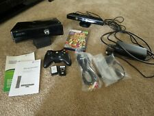 Xbox 360S Slim Console 250GB HDD w/ Kinect and Controller + Game Lot (read desc)