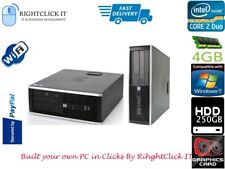 HP Compaq 8000 Elite Sff Intel Core 2 Duo 4 GB 250 GB HDD DVD RW dport