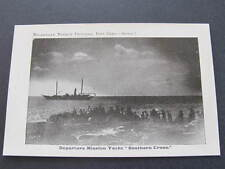 """Departure Mission Yacht """"Southern Cross"""" Melanesian Mission Postcard"""