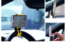 CAR HOLDER SUPPORTO PORTA TELEFONO AUTO STERZO VOLANTE UNIVERSALE PER SMARTPHONE