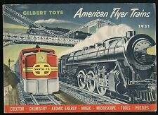 1951 AC Gilbert American Flyer Train & Toy Catalog & Price List Sheet