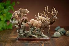 Encounter - Elk & Bear Sculpture by Danny Edwards