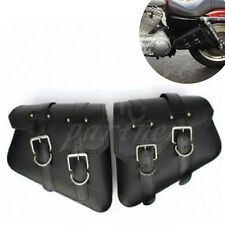 New Motorcycle Saddlebags PU Leather Pouch Bag For Harley Sportster XL 883 1200