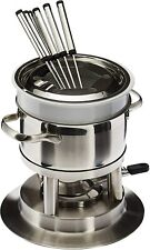 Swissmar Arosa 11Pc Stainless Meat Chesse and Chocolate Fondue Set