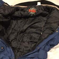 Vintage 90s Bolle LG Navy Blue Ski Suit Good Condition Retro Snap Button Wmns Sz