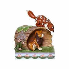 Disney Traditions Jim Shore 2020 Fox and The Hound Tod & Copper on Log Figurine