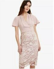 New Phase Eight Size 8 Rose Moriko Lace Skirt Dress Wedding Cocktail