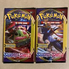 Pokémon Cards- LOT OF (10) POKEMON SWORD & SHIELD 3-Card Booster Packs Sealed!