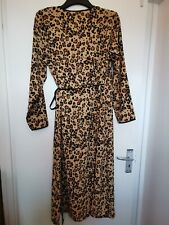 Biba Ladies Bohemian Grande Leopard Print Wrap Dress Size UK 14 REF: C2828^