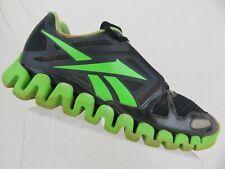 REEBOK Zigdynamic Zigtech Black Green Sz 12 Men Running Shoes 66b910fe7