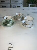 3 Vintage Cup And Saucers