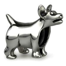 Chihuahua Original plata esterlina sólida encanto Ohm Bead whf052