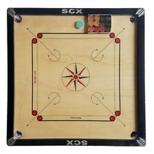 "Pro 33"" Large carromboard Wooden Carrom Board Game W/Free Wooden Coins & Striker"