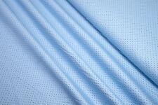Baumwollstoff  mini Paisley und Punkte schwarz auf hellblau 0,5m