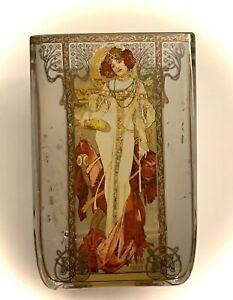 Goebel Artis Orbis Windlicht Herbst 1900 Teelicht Glas 10 cm von Alfonse Mucha