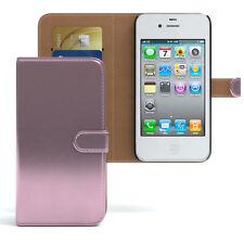 Bolso para Apple iPhone 4/4s case cartera, funda protectora, funda, protección rosa
