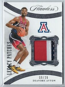 2020-21 Flawless Collegiate Deandre Ayton #08/20 Legacy 3-color Patch Jersey