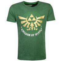Légende de Zelda Golden Kingdom De Hyrule T-Shirt Mâle XL Vert