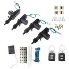 4 Door Power Central Lock Kit Car Remote Control Conversion With 2 Keyless Entry