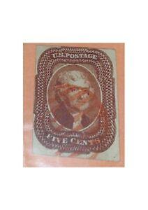 Us Postage #12 RED GRID 1856 CV $181.50