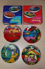 Corneille  - 4  Rare porcelain dishes