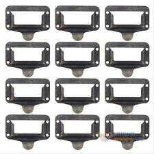 12PCS Vintage Label Tag Pull Handle Card Holder Drawer Cup Cabinet Cupboard Pull