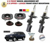 FOR VOLVO XC90 2002-> 2 X FRONT STRUT MOUNTING SET + 2X FRONT SHOCK ABSORBER KIT