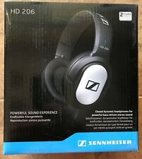 New Sennheiser HD 206 Hi-Fi Stereo Over the Ear Headphones Replaces 201 - Black