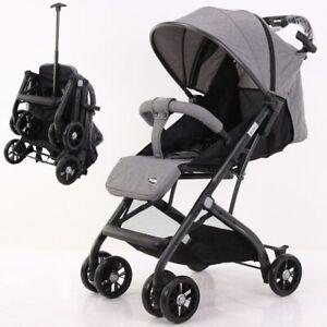 Nunu Passeggino Bugsy Richiudibile Pieghevole a Trolley per Bambini 6+mesi Grey