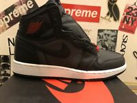 Air Jordan 1 Retro High OG Satin Black 575441-060 GS Size 4.5 / 6 Women DS